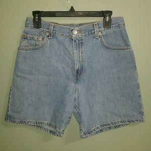 Levi Light Wash Denim Shorts